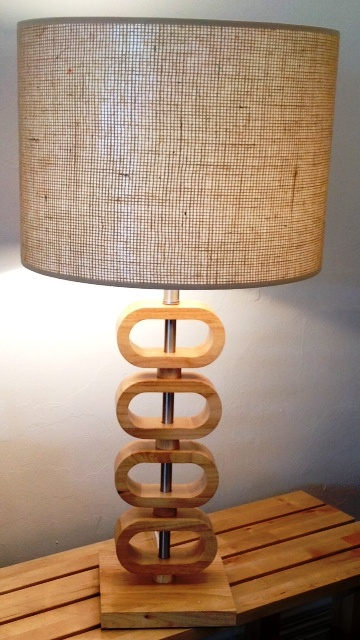 Orlando lamp -with Jute Lampshade