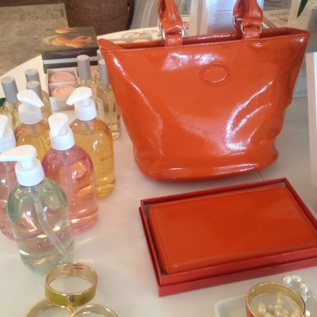 Orange Louen Hide bag & wallet