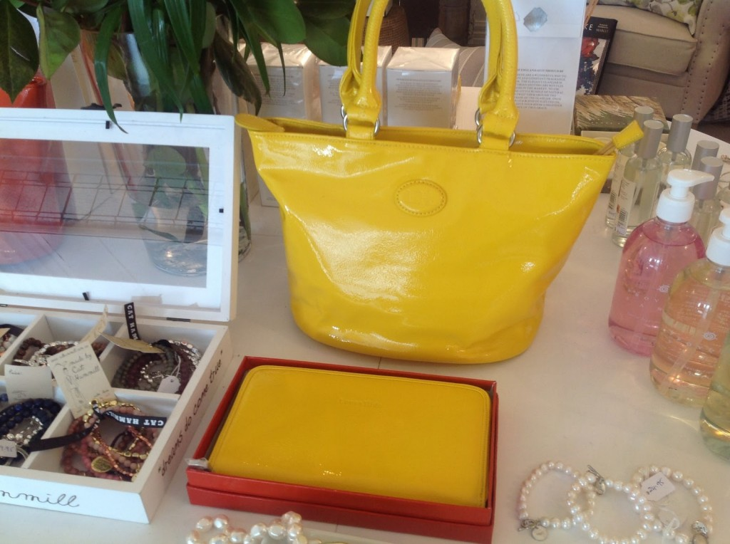 Yellow Louen Hide bag & wallet