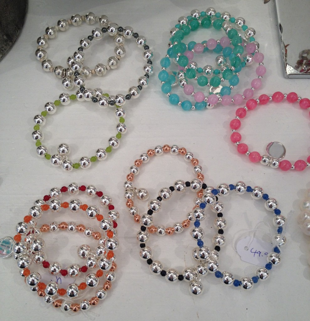 Beautiful Stone & Silver bracelets