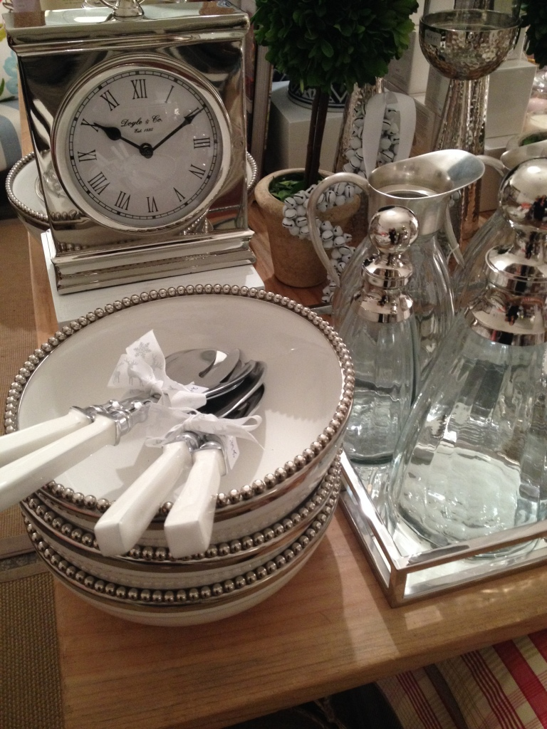 White and silver Christmas table cutlery and crokery from haven home and style